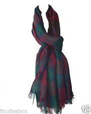 Lindsay moderno Sciarpa di cotone Tartan Lungo Grande Scialle Wrap bobinatura fusciacca Fair Trade