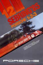 VINTAGE 1985 12 HOURS AT SEBRING PORSCHE POSTER PRINT 24x16