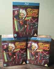 "STAR WARS THE CLONE WARS COMPLETE SEASON 1-5 BOX SET 14 DISC BLU-RAY RB ""SEALED"""
