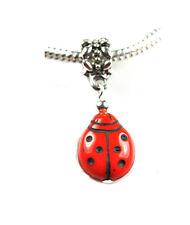 Large Red Ladybug Dangle Charm Beads European Style