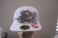 New Era Texas Longhorns 59fifty White Gray Baseball Hat Cap 7 1/8