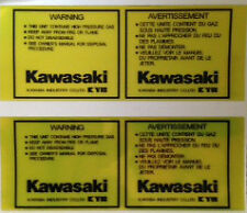 KAWASAKI Z1000R Z1100R EDDIE LAWSON REAR SHOCK ABSORBER CAUTION WARNING DECALS