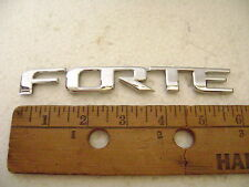 FORTE chrome plastic emblem 6 inches wide 3/4 inch tall koup KIA