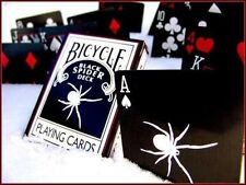 RARE Black Spider Deck Bicycle Playing Cards w/4 Gaff