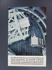 Palomar Observatory Palomar Mountain California CA Postcard Hale Telescope 1965