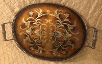 Exquisite Vintage Gold Gilt Vanity Tray