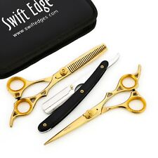 "6.5"" PROFESSIONAL SALON HAIRDRESSING HAIR CUTTING THINNING BARBER SCISSORS KIT"