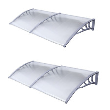 """ALEKO Two Polycarbonate Outdoor Window Door Canopy Awning Covers 40"""" x 80"""" each"""