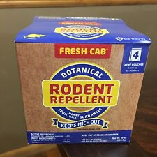 NEW Fresh Cab Botanical Rodent Repellent 4 Scent Pouches 1 Box Keep Mice OUT!