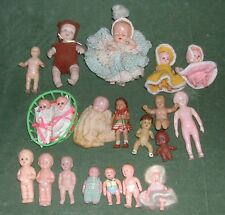 Lot of Small dolls, ASSORTED TYPES some RENWAL * Hard Plastic, Porcelain & MORE