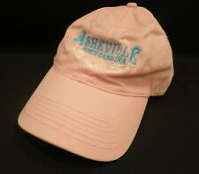 Asheville North Carolina Pink Baseball Cap Hat Turquoise Embroidery Adjustable