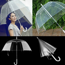 Fashion Transparent Clear Automatic Umbrella Parasol For Wedding Party Favor LN