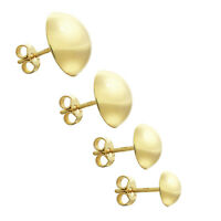 Paar Ohrstecker 333 8 Karat Gelbgold Halbkugel Damen Stecker Ohrringen