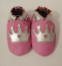 soft leather baby shoes, nursery shoe, suede sole pram shoes 12-18 MTHS