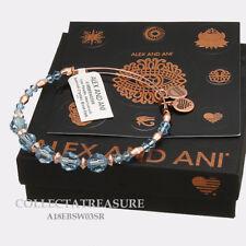 Authentic Alex and Ani Brook Beaded Swarovski Crystal Shiny Rose Bangle