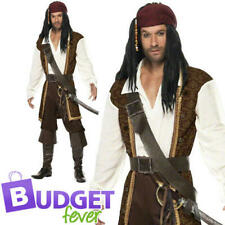 Deluxe High Seas Pirate Mens Fancy Dress Buccaneer Halloween Male Adults Costume