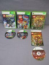XBox 360 Lego BATMAN 3 INDIANA JONES MOVIE Video Game Lot