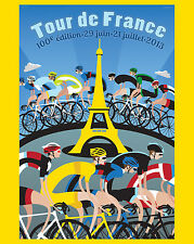 2013 Tour de France (100th Edition) Advertising Poster - 8x10 Color Photo
