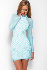 Polyester Party Long Sleeve Textured Dresses for Women