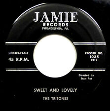 The TRITONES 45 Sweet and Lovely / Blues In the Closet 1957 Doo Wop WS1530