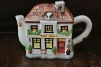 Fabulous Vintage Little Ornamental 'The Bull' Pub Teapot/Tea Pot - 15cm Tall