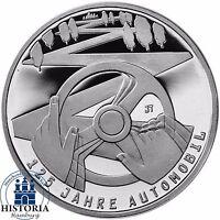 Deutschland 10 Euro 125 Jahre Automobil  2011 Silber-Gedenk-Münze Spiegelglanz