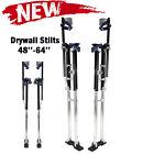 48'-64' Drywall Stilts Painters Walking Taping Finishing Adjustable Tools Black
