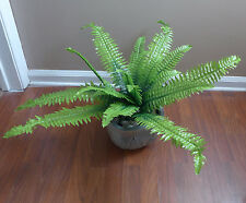 "24"" Boston Bushes Artificial Plants Fern Leaf Home Wedding Decoration"