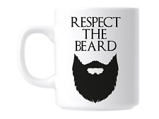 Respect The Beard Hipster Coffee Mug Cup Gift Present For Him
