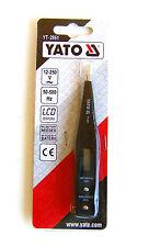 Yato yt-2861 Digital Comprobador de tensión, pantalla LCD, SIN Batería Necesita,