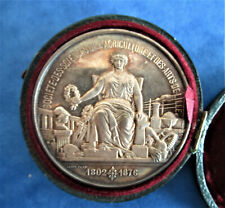 FRANCE-1891-SEATING MINERVA -SUPERB  AGRICULTURAL SILVER MEDAL by HAMEL -IN BOX