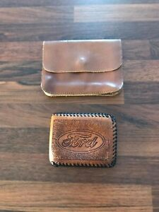 Mens Vintage Retro Brown Leather Ford Wallet And Belt Wallet Bag