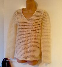 BNWT 100% authentic tags £350 Comme des Garcons Cream Wool String Knit Jumper M