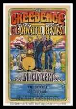 """Framed Vintage Style Rock n Roll Poster """"CREEDENCE CLEARWATER REVIVAL""""; 12x18"""
