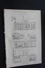 1896 Stich Bergbau / Koks  Zeche Recklinghausen II Gneisenau Derne