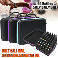 60 Bottle Essential Oil Carry Case 5ML~15ML Holder Storage Aromatherapy Hand Bag