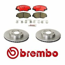 2-Brembo Front Disc Brake Disc & Pad Set Fits Honda Accord CRV Element Acura ILX