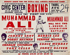 MUHAMMAD ALI - RARE VINTAGE SIGNED BOXING POSTER PRINT - GET YOUR'S NOW!
