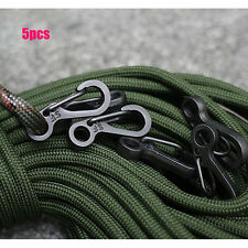 5 Pcs Mini EDC Carabiner Snap Spring Clips Hook Survival Keychain Tool Outdoor