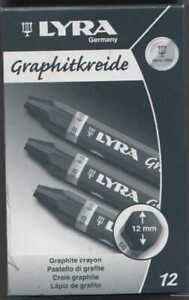 Graphitkreide für Künstler, Härte 6B Schachtel mit 12 Stück