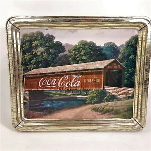 Coca-Cola Collectible Tin Covered Bridge Jim Harrison Landscape