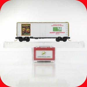 N Scale LOWELL SMITH DISNEY Christmas 2012 SNOW WHITE Box Car MICRO TRAINS *RARE