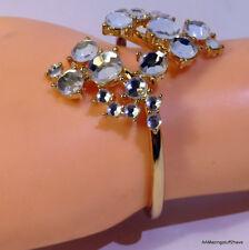 Cluster Hinged Bangle Bracelet $30 Inc International Concepts Gold-Tone Crystal