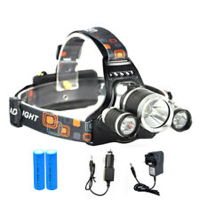 12000LM T6 3x CREE LED Headlamp Head Light Torch Lamp Rechargeable Flashlights
