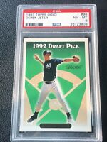 1993 Topps Baseball DEREK JETER GOLD ROOKIE SP, PSA Graded 8 MINT, Yankees HOF