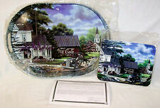 NEW 2000 COCA COLA PAMELA RENFROE A BETTER DAY WITH REA SIGNED TRAY METAL PLAQUE