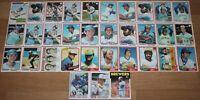 33 Topps MILWAUKEE BREWERS Baseball Cards 1977 1978 1979 1980 1981 1982 1986 MLB