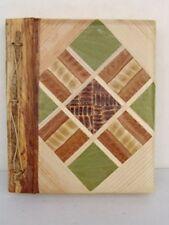 Handmade organic leaf photo album