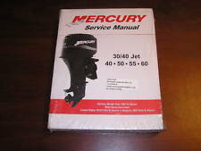 2002 White Mercury 30/40 Jet 40 50 55 60 Service Manual 90-852572R02 OEM 02 NEW