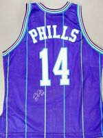 Bobby Phills Signed Autographed Basketball Charlotte Hornets Jersey ARENAS COA